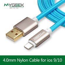 MyGeek Top Quality USB Charging Cable For iPhone 5 5s 6s 6 7 Plus Mobile Phone cable Data Sync Charger 2m 3m Wire for ios 9 10