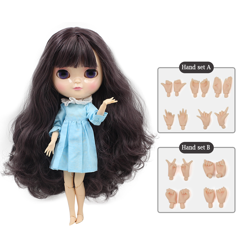 12 inch NO.9219 Big eyes Cute ICY Azone joint body purple hair Gift for girls like the Neo blyth doll 30cm high