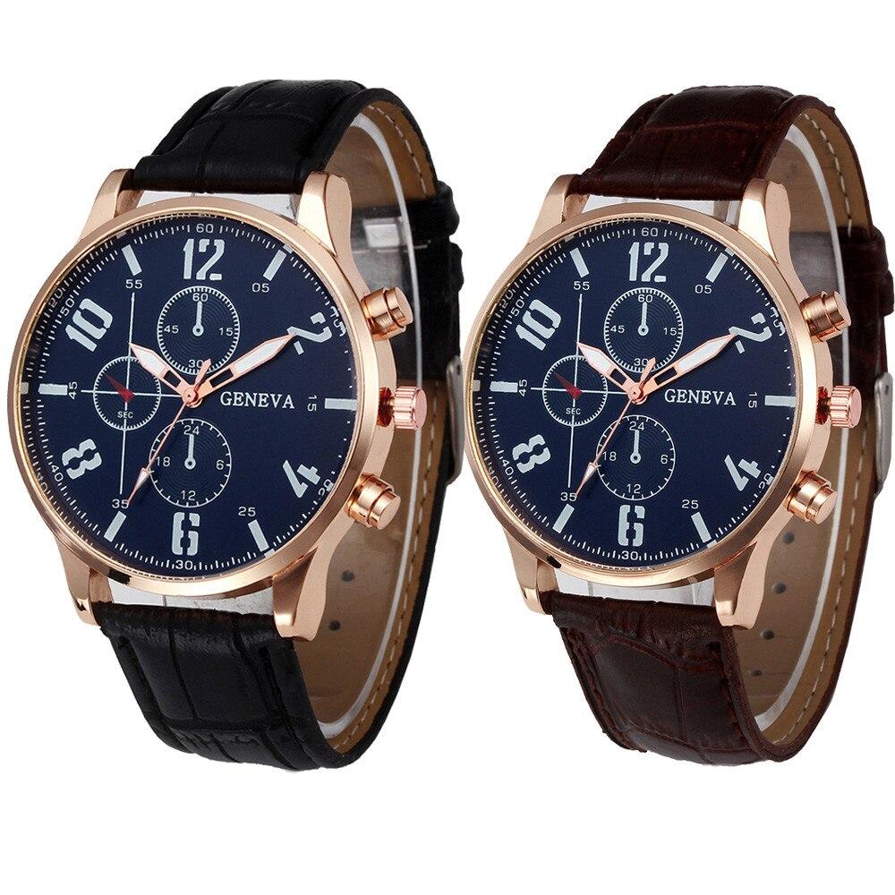 Retro Design Leder Band Analog Alloy Quarz-armbanduhr Geschenk 2017 Gute Verkauf Reloj Masculino Oct.10 Uhren