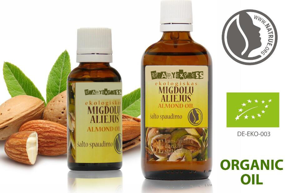 Free Shipping Organic Sweet Almond Oil | 100% Pure, Cold Pressed, Undiluted 30ml