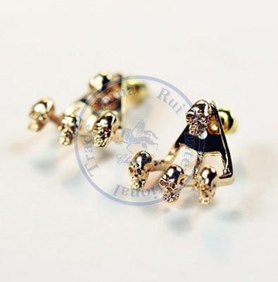 Stud Earrings ear rings Fashion for women Girls lady skull creative punk desgin CN post