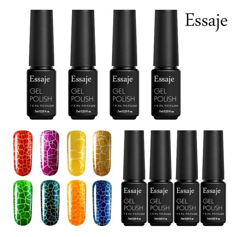Essaje 1pcs Crackle Crack UV/LED Gel Nail Polish Fashion