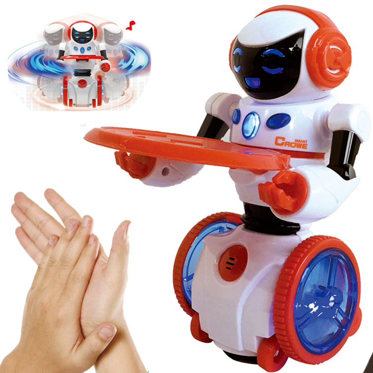 Magic Design Intelligent Food Delivery Robot Hand Beat Induction Voice Control Robot Toy Novelty Gift For Children Playing