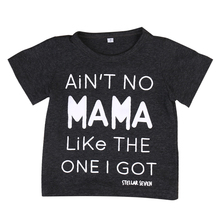 Mama Kids Baby Matching Tops Boys Girls Cotton Clothes Women Family T Shirts Blouses Famly Matching Outfits Clothing