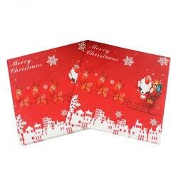 Рождество Санта Лось мультфильм бумажные салфетки с рисунком вечерние декоративная ткань декупаж Servilleta 33 см * см 20 шт./упак./лот