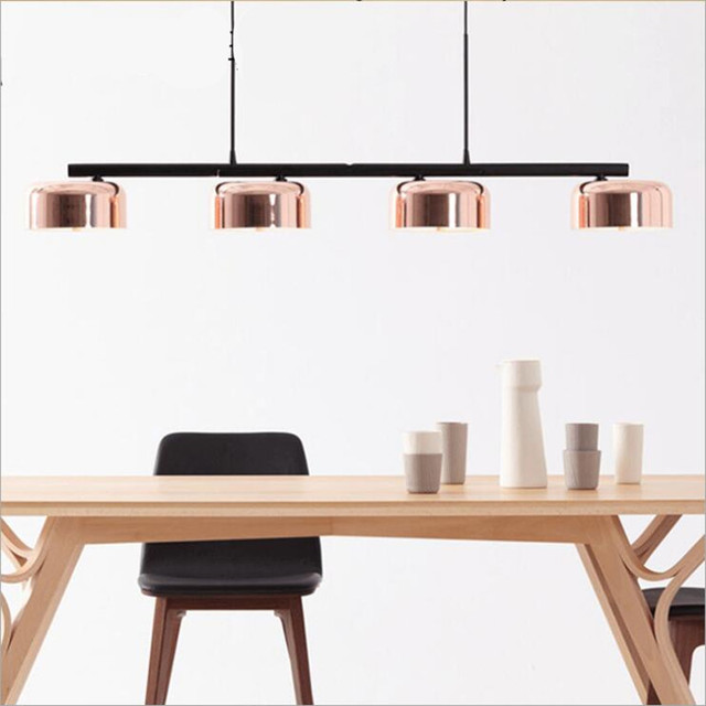 Post Modern Loft Copper Iron Aluminum Rotatable E27 Pendant Light For Dining Room Living