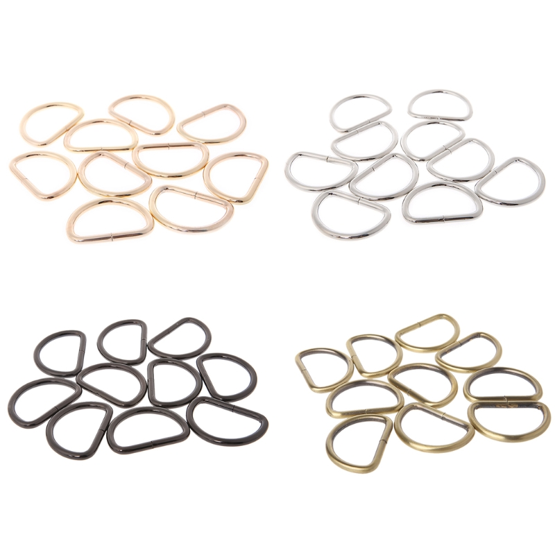 10pcs New Strap Buckle 38mm Inner Width Metal Non Welded D Ring Buckle For Backpacks Bags Straps Bag Accessories