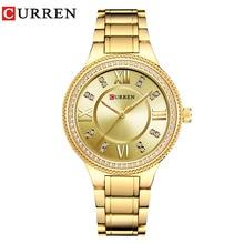CURREN brand Women Rhinestone Stainless Steel Waterproof Watch (6 colors)