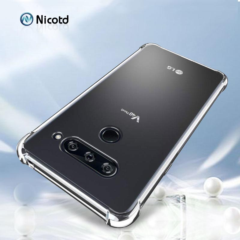 Ultra thin Clear Transparent TPU Silicone Case For LG V50 V40 V30 G8 V35 ThinQ V20