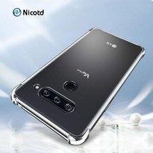Ultra thin Clear Transparent TPU Silicone Case For LG V50 V40 V30 G8 V35 ThinQ V20 K11 plus Phone back cover for G7 Q9 Q6 G6