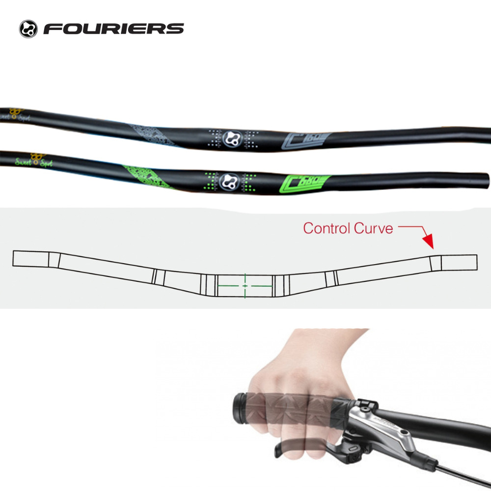 Fouriers AL7075-T73 MTB Bike Flat Handlebar 31.8mm x 680mm 760mm Eccentric 5mm XC Comfort Bar Control Curve Handlebars for volvo xc60 car driving video recorder dvr mini control app wifi camera black box novatek 96658 registrator dash cam