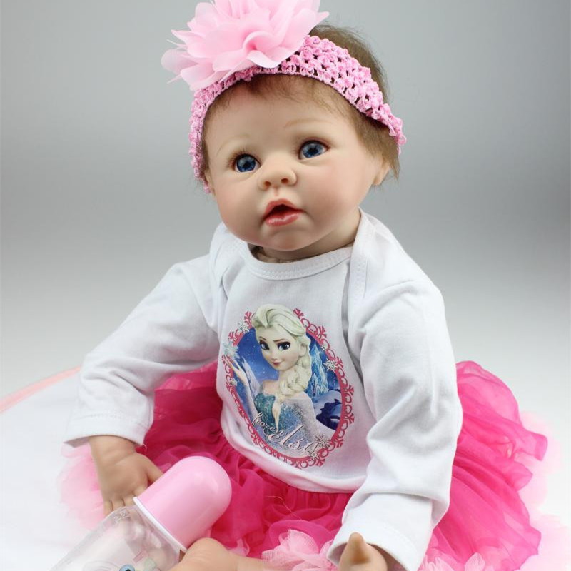 Lovely Real Like 55cm Silicone Reborn Baby Doll Cheap