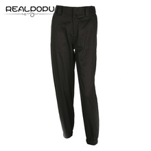 Realpopu Casual High Waist Harem Pants OL Pockets Elastic Solid Long Trousers women Basic Skinny Pantalon Taille Haute Femme