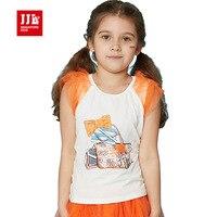 Girls Summer T Shirt Sleeveless Kids Tank Top Teenage Children Tops Girls Clothes Cartoon Print Girls