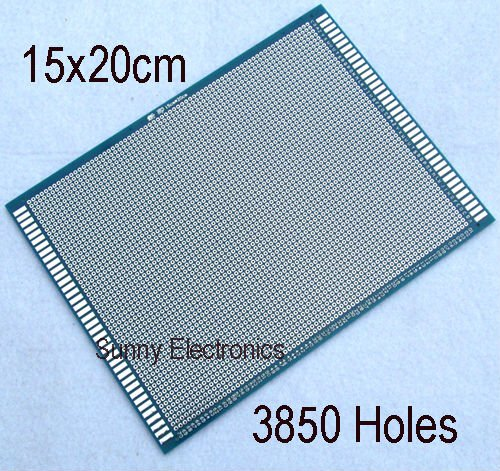 цена на 15x20 cm Single Side Prototype PCB Panel Universal Circuit Board FR-4 Glass Fiber