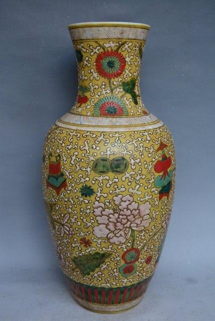 Antique Qing Dynasty Porcelain Vaseenamel Colorhandmade Crafts