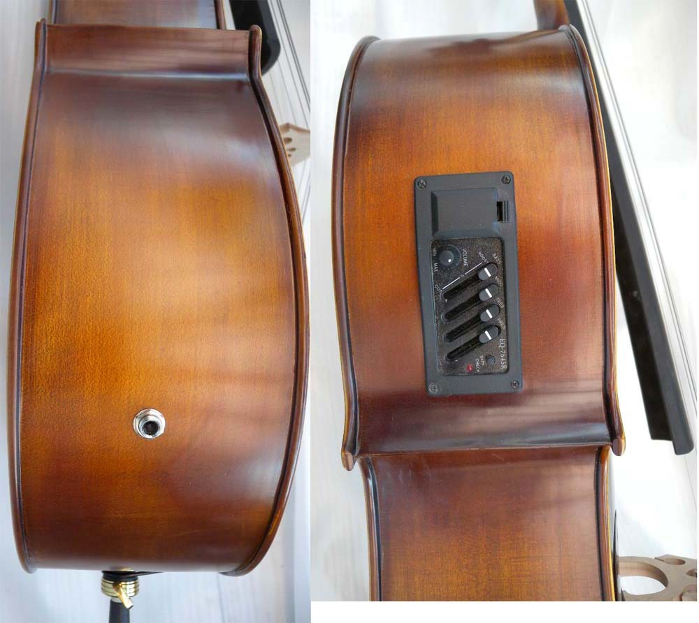Cello 4/4 New Electric Acoustic Cello Nice Sound Solid wood 5 string #1 handmade new solid maple wood brown acoustic violin violino 4 4 electric violin case bow included