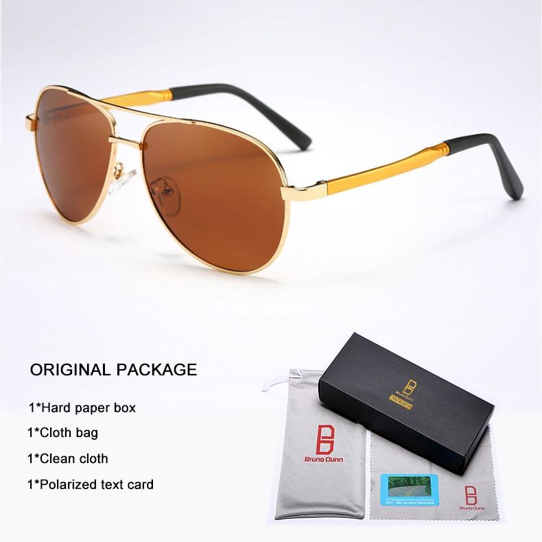Bruno Dunn 2020 Aviation Men Sunglasses Polarized Sun Glases oculos de sol masculino aviador UV400 high quality  Sunglases 17