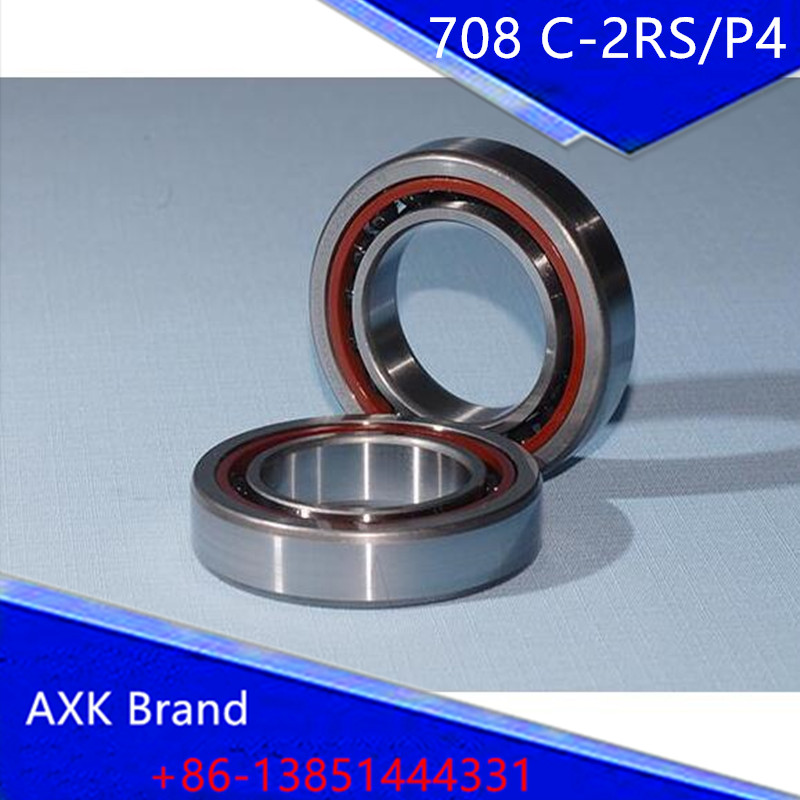 ФОТО 8mm Spindle Angular Contact Ball Bearings 708C-2RS/P4 SUPER PRECISION BEARING ABEC-7 708 Double sealed rubber seals RS/RS1/2RS1