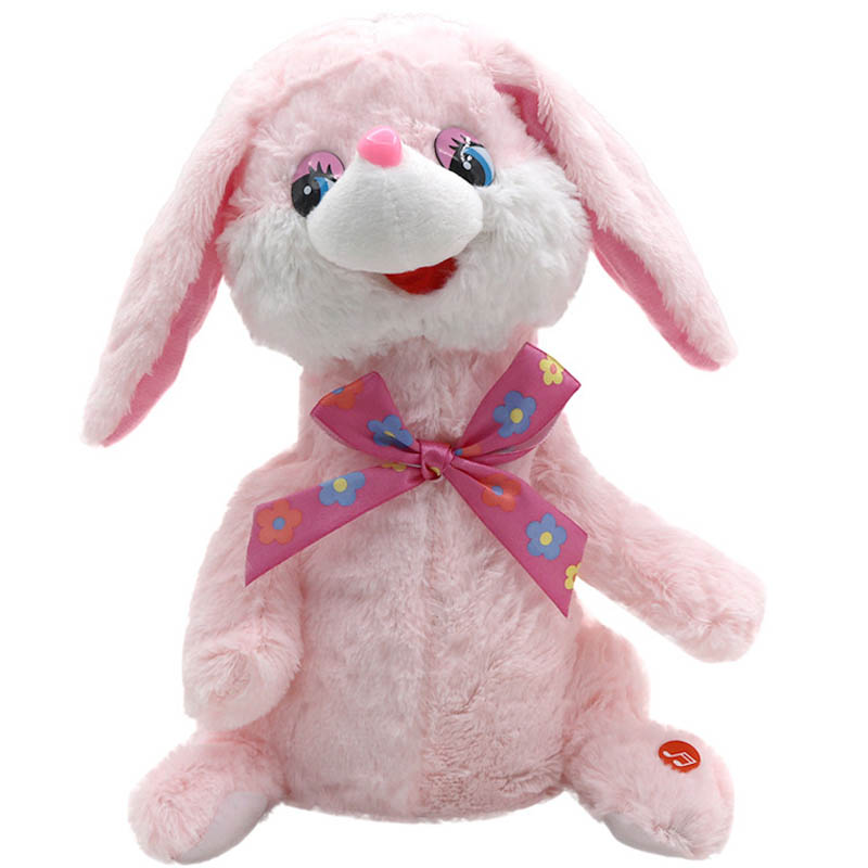 Children Electric Plush Toy Singing Dancing Animal Dog/Rabbit Baby Musical Interactive Kids Stuffed Dolls Christmas Gift FJ88