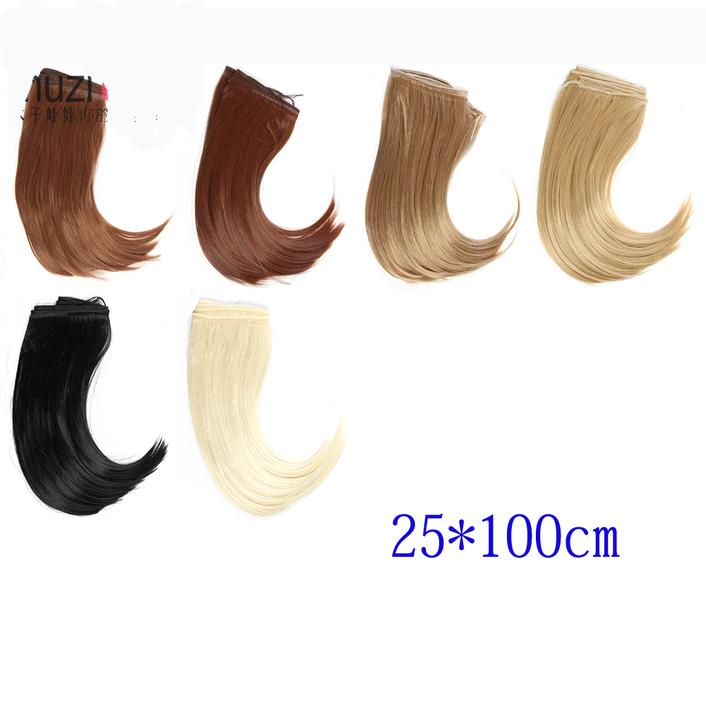 25CM*100CM Doll High Temperature Wigs For 1/3 1/4 1/6 BJD SD Dolls DIY Wig Hair Bang Fringe Wholesales fashion black hair extension fur wig 1 3 1 4 1 6 bjd wigs long wig for diy dollfie