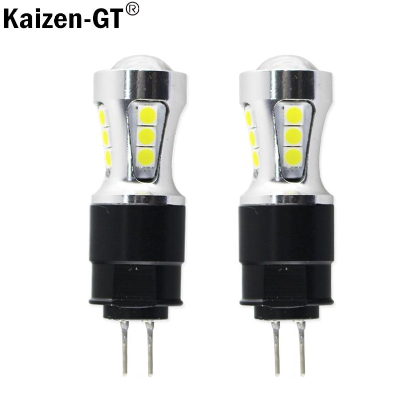 Kaizen-gt error libre Led Drl luz Hp24w 3030SMD 12 V G4 luces diurnas LED Bombilla lámpara citroen C5 y Peugeot 3008
