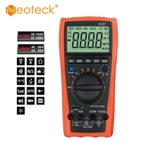 Neoteck Digital Multimeter 4000 Count 3 3/4 AC DC Voltage Ammeter Auto Range Current Ohm With Temperature Portable Meter Tester