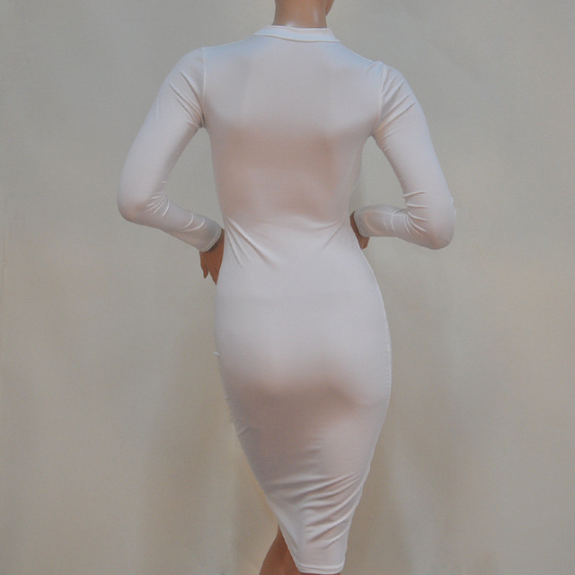 Elegant Bodycon Bandage Dress