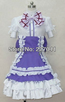 Macorss Frontier F Cheryl Nome Purple Halloween Cosplay Costume Clothes  A0134