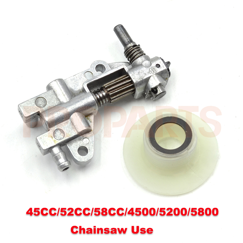 Oil Drive Pump Worm Chinese Chainsaw 4500 5200 5800 45CC 52CC 58CC 5pcs tool parts chainsaw spare part universal chainsaw oil drive pump worm gear for chinese chain saw parts 4500 5200 5800