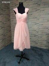 Free Shipping ! Cheap Price ! 2018 New Arrival Sexy Short chiffon Bridesmaid Dress