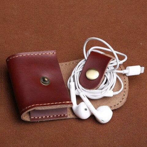 Vintage Coin Bag Man Women Genuine Leather Handmade Fashion 2018 Coin Purses Wallet Headphones Key Holder Pocket Bag Case Karachi