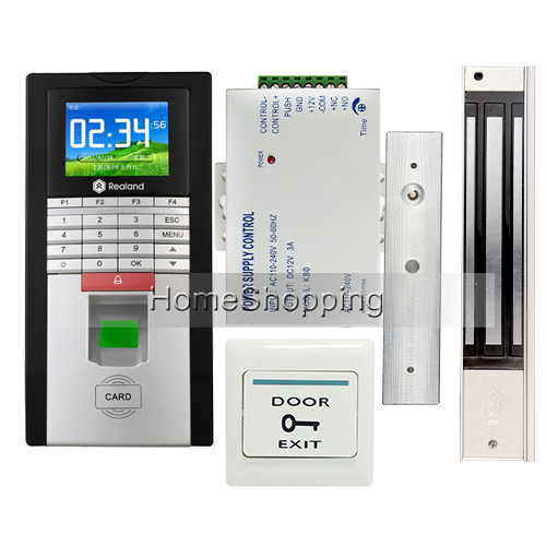 Brand Fingerprint And RFID Card Reader TCP/IP Communicate Access Control System Kit With Magnetic Door Lock DHL FREE SHIPPING tcp ip biometric face recognition door access control system with fingerprint reader and back up battery door access controller