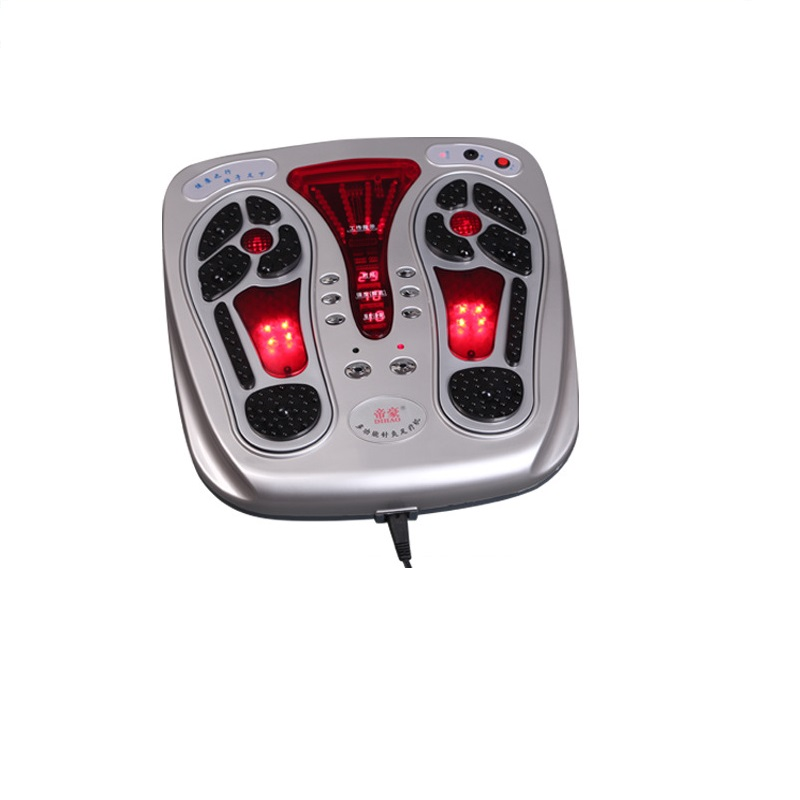 Health Care electric foot massager with heat function low Frequency electrical stimulation vibrating blood circulation massage health care infrared heating therapy foot massage machines foot sole blood circulation stimulation electric foot massager