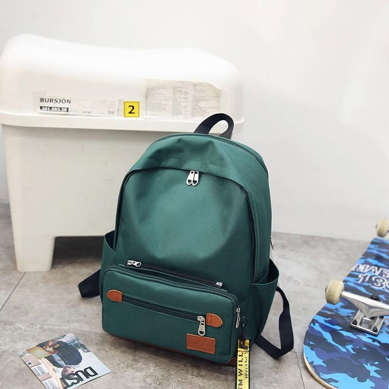 2018 Trendy Backpack Women Travel Fashion School Back Bag Canvas for teenage girls Leisure Ladies bagpack schoolbag mochila New
