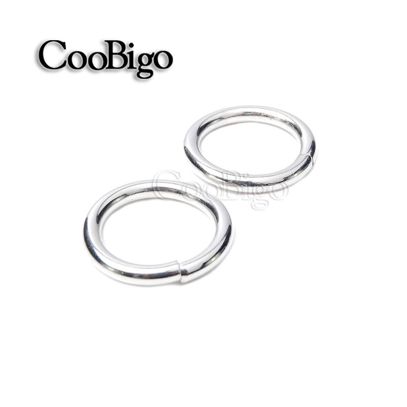 """5//8/""""~2/'/' Non Welded Metal O Ring Nickel Backpack Harness Bags Parts Accessories"""