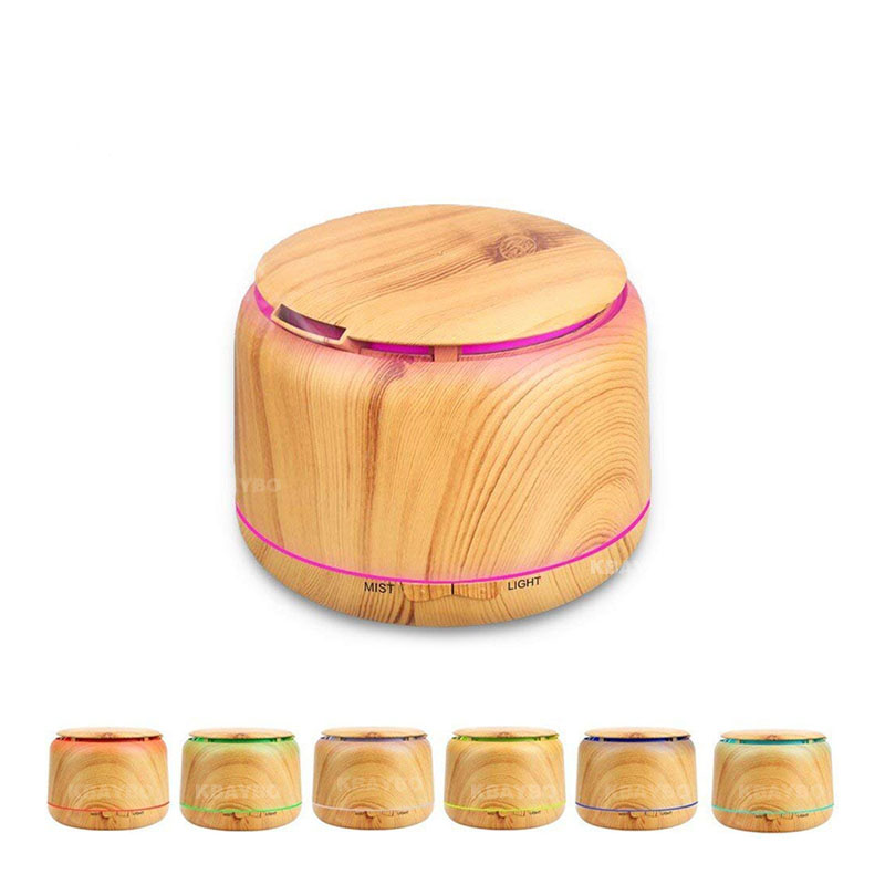 300ml Wood Grain Cool Mist Humidifier aromatherapy diffuser Ultrasonic Humidifier Aroma Essential Oil Diffuser With 7 Color LED цена и фото