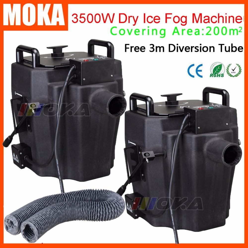 2 Pcs lot Dry Ice Low Lying Fog Smoke Machine 3500w dry ice machine smoke maker