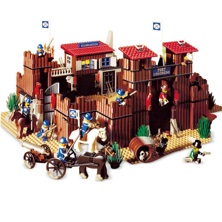 West cowboy Series Indian Village Building Blocks 724Pcs Bricks Educational Toys Compatible With Legoings