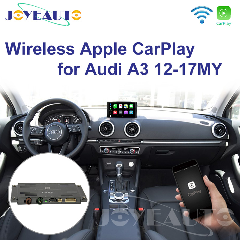 US $355 59 19% OFF|Joyeauto WIFI Wireless Apple Carplay Car Play Retrofit  A3 MMI 3G Plus 2012 2017 for Audi Android Mirror Support Reverse Camera-in