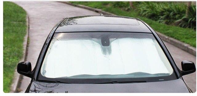 WISE TRAVEL Universal Reflective Car Aluminum foil Windscreen Sunshade  Front Window Sun Shade Windshield Visor Cover 0075abbea67