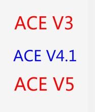 Envío Gratis 20 unids/lote ace v3 ace v4.1 ace v5 360run amarillo rojo mod bo 5,0