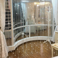 Fashion Crystal glass bead Curtain Indoor Home Decoration Luxury Wedding backdrop supplies