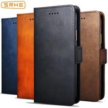 цена на SRHE For Motorola Moto G6 Plus Case For Moto G6 Business Flip Leather Wallet Case For Moto G6 Plus Moto G6 With Magnet Holder