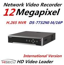 In Stock Original English Version H.265 HIK NVR DS-7732NI-I4/16P 32CH 16POE Surveillance Video Recorder With 4 SATA  12MP 4K NVR