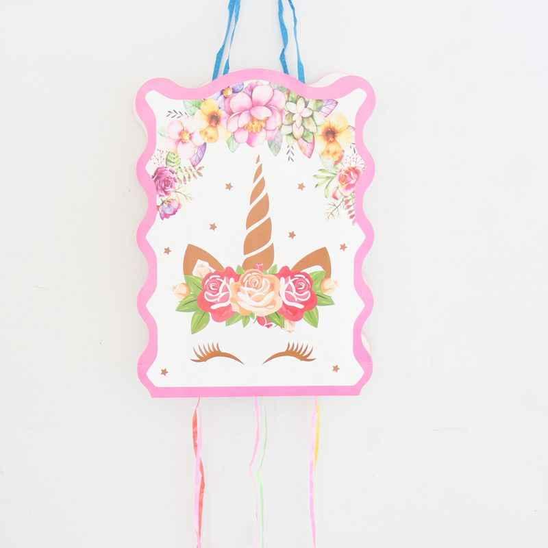 1 комплект Единорог бумажная Складная пиньята детские штаны для мальчиков и девочек праздничные украшения для дня рождения украшения на день рождения настольная игра; игрушка