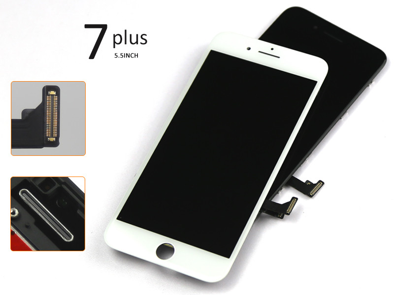 10 pcs/lot Quality AAAAA 100% Tested new lcd for iphone 7 plus , for iphone 7 plus lcd with digitizer , for iphone 7 plus screen