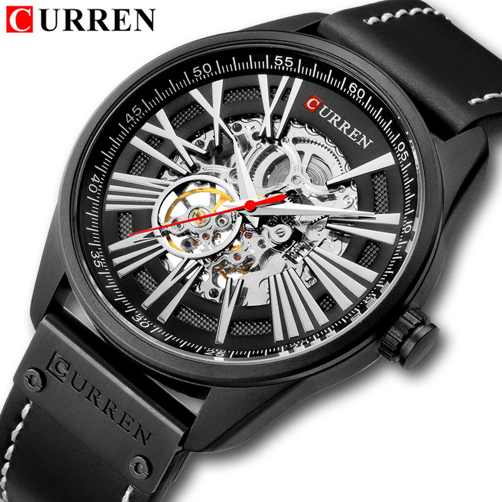CURREN Luxury Brand Automatic Machinery Watches Men Leather Waterproof Business Watch Men Quartz Clock Man Relogio MasculinoCURREN Luxury Brand Automatic Machinery Watches Men Leather Waterproof Business Watch Men Quartz Clock Man Relogio Masculino