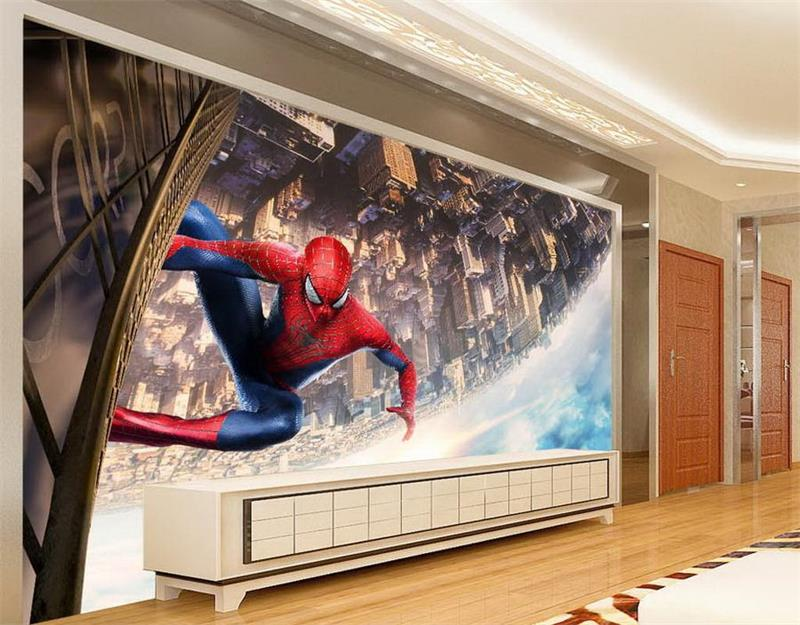 3d photo wallpaper custom room mural American movie Hero-Man cartoon 3d painting sofa TV background wall wallpaper for wall 3d