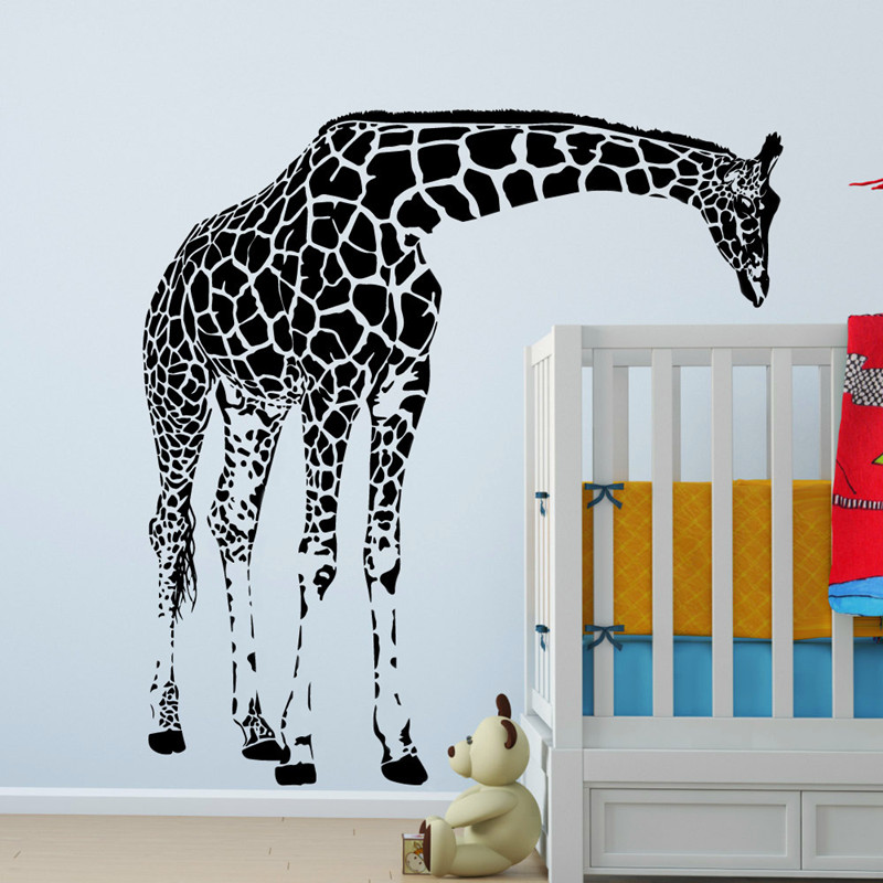 Large Giraffe Wall Decal Vinyl Sticker Animal Series